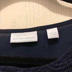 New York & Company Tops - Navy New York & Company blouse